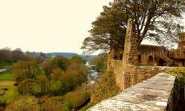 巴纳德城堡和Weardale 库存照片