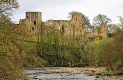 巴纳德城堡废墟,英国 免版税图库摄影