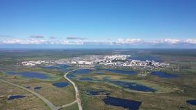 纳德姆在西伯利亚北部中寒带草原沼泽的  股票视频