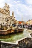 纳沃纳广场在罗马(意大利) 免版税库存图片