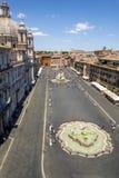 纳沃纳广场鸟瞰图在罗马 旅游的吸引力 库存照片