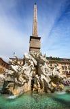 纳沃纳广场,罗马。意大利 库存图片
