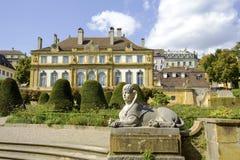 纳沙泰尔,宫殿du佩鲁 库存照片