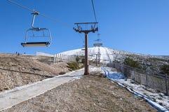 纳瓦塞拉达滑雪胜地 库存图片