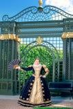 纳瓦拉延命菊类似的妇女,法国的女王/王后 免版税图库摄影