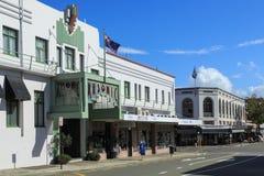 纳皮尔,新西兰 共济会的旅馆,在1932年建造 免版税图库摄影