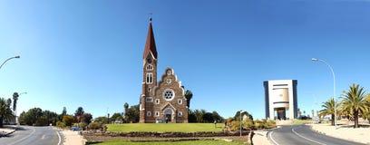 纳米比亚全景温得和克 库存图片