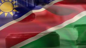 纳米比亚旗子数字综合  影视素材
