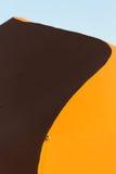 纳米比亚沙漠,在日落的Sossusvlei 免版税库存照片