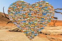 纳米比亚生动描述拼贴画 库存图片