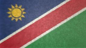 纳米比亚的旗子的原始的3D图象 免版税库存图片