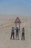 纳米比亚-观光的游人 免版税库存图片