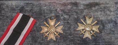 纳粹十字架 免版税图库摄影