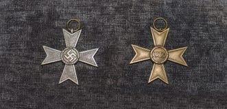 纳粹十字架 免版税库存照片