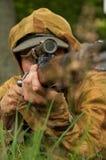 纳粹狙击手 免版税图库摄影