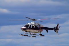 纳苏郡NY警察用直升机 图库摄影