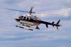 纳苏郡NY警察用直升机 免版税库存照片