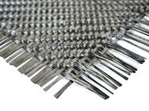 纳诺在织法样式的碳综合纤维 库存照片