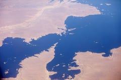 纳赛尔水库,埃及鸟瞰图  库存图片