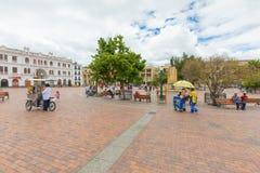 纳里尼奥省广场帕斯托哥伦比亚 库存照片