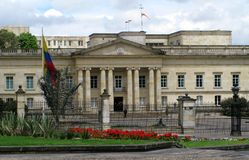 纳里尼奥省,波哥大,哥伦比亚议院  免版税库存图片