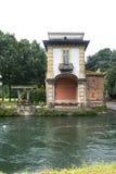 纳维廖河畔罗贝科,米兰 免版税库存照片