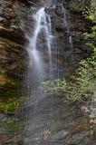 贝纳Branca河瀑布在Folgoso做Courel,卢戈,西班牙 库存图片