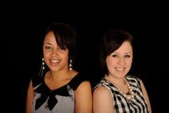 纵向二妇女年轻人 免版税图库摄影