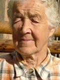 纵向前辈妇女 免版税图库摄影