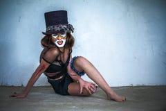 纵向可怕妖怪小丑 库存图片