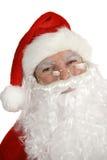 纵向圣诞老人微笑 库存照片