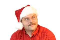 纵向圣诞老人 免版税库存照片