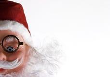 纵向圣诞老人 图库摄影