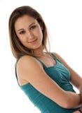 纵向妇女年轻人 免版税图库摄影