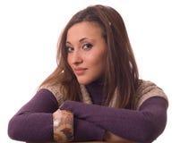 纵向妇女年轻人 免版税库存图片