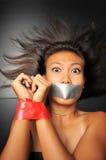 纵向妇女 免版税图库摄影