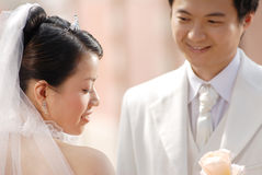 纵向婚礼 免版税库存图片