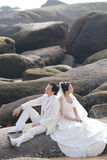 纵向婚礼 图库摄影