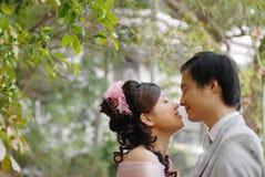 纵向婚礼 免版税图库摄影