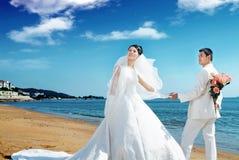 纵向婚礼 库存照片