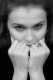 纵向性妇女年轻人 免版税库存图片