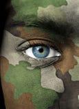 纵向战士 免版税库存照片