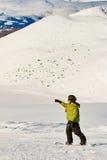 纵向挡雪板 免版税图库摄影