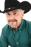 纵向的年长美国牛仔关闭 免版税库存图片