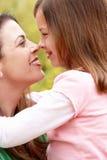 纵向西班牙母亲和女儿 免版税库存图片