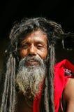 纵向sadhu shaiva 库存图片