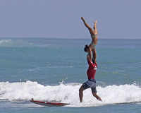 纵排冲浪的位置 免版税库存照片