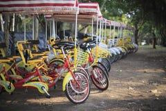 纵排自行车 免版税库存照片