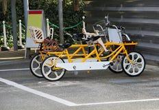 纵排自行车 库存图片