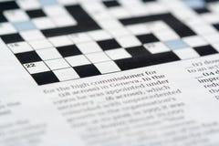 纵横填字谜 免版税图库摄影